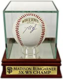 "SF Giants Madison Bumgarner Autographed Official 2014 World Series Baseball withCustom ""3X WS CHAMP"" Case (COA)"