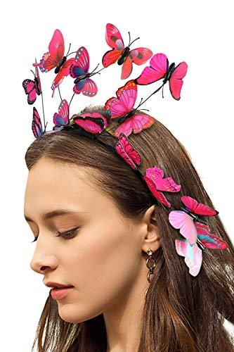 Fascinators for Women Butterfly Creative Headband Tea Party Wedding Festival Headpiece