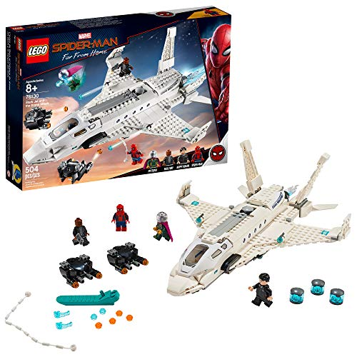 LEGO Marvel Spider-Man Far From Home: Stark Jet and the Drone Attack 76130 Building Kit, New 2019 (504 Piece) -