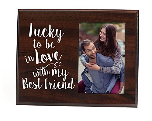 Lucky to be in love Romantic Gift picture frame for boyfriend gift for him gift for her wife gift girlfriend gift anniversary - Boyfriends Gift Christmas For Ideas For