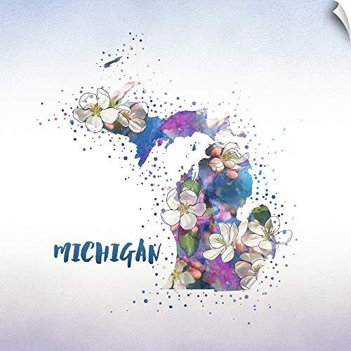 CANVAS ON DEMAND Michigan State Flower (Apple Blossom) Wall Peel Art Print, 48