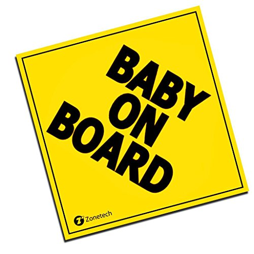 Zone Tech Baby On Board MAGNET - safe caution safety sign children - Space Magnet Wheel