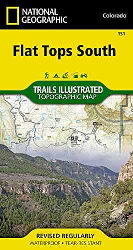 Flat Tops South (National Geographic Trails Illustrated (Flat Tops Wilderness)