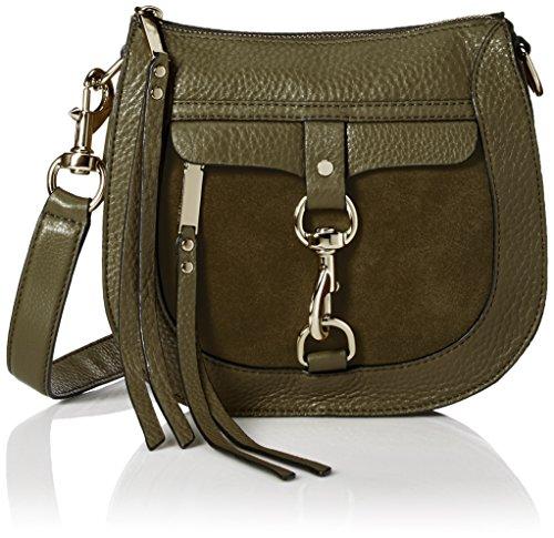 (Rebecca Minkoff Dog Clip Saddle Bag, Olive)