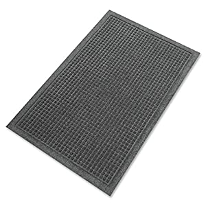Guardian EcoGuard Indoor Wiper Floor Mat, Recycled Plastic and Rubber, 4' x 6', Charcoal
