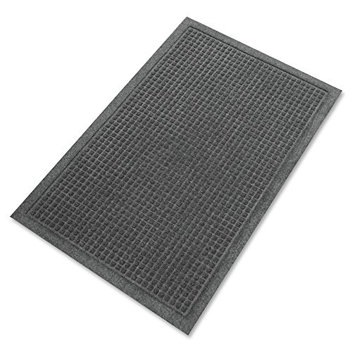 Guardian EcoGuard Indoor Wiper Floor Mat, Recycled Plastic and Rubber, 3' x 5', Charcoal by Guardian
