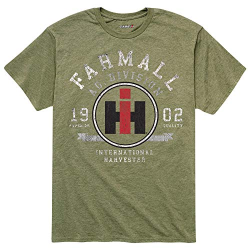 Country Casuals Farmall Ag - Adult Short Sleeve Tee Heather Military ()