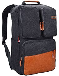 WITZMAN Men Retro Canvas Backpack Travel Rucksack Duffel Bag