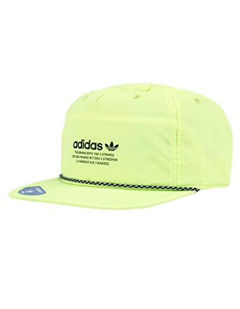 4a5f48f37f41c Image Unavailable. Image not available for. Color  adidas Originals Relaxed  Decon Rope Yellow Strapback Hat ...
