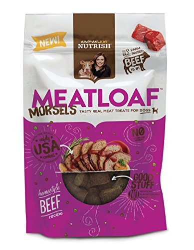 Rachael Ray Nutrish Meatloaf Morsels Dog Treats, Homestyle Beef Recipe, 12 - Ray Small