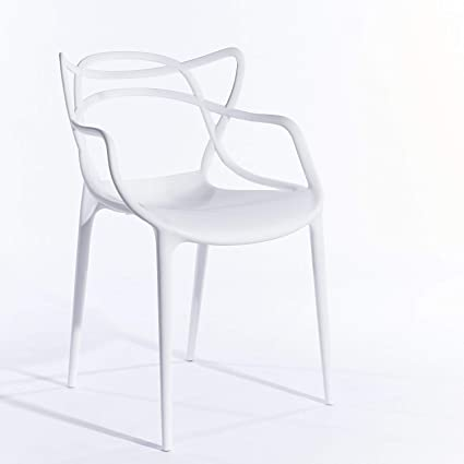 Modern Plastic Outdoor Chairs.Inspired White Master Arm Chair Dining Chairs Modern Plastic Lounge Indoor And Outdoor Chair Cafe Restaurant Bar Commerical Chair Designer Uk