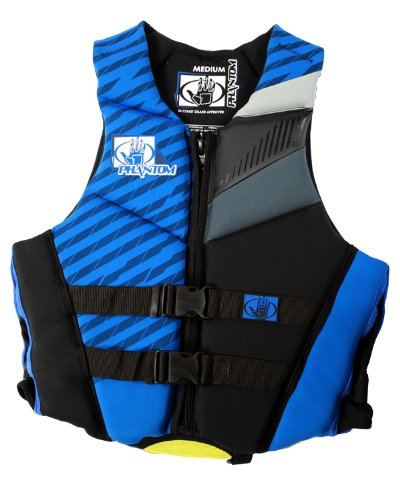 Body Glove Men's Phantom U.S. Coast Guard Approved Neoprene Pfd Life Vest (Royal/Black/X-Small) - 30-33 inches
