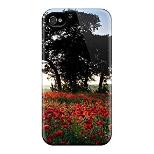 Iphone 4/4s Case Cover Red Rose Field Case - Eco-friendly Packaging