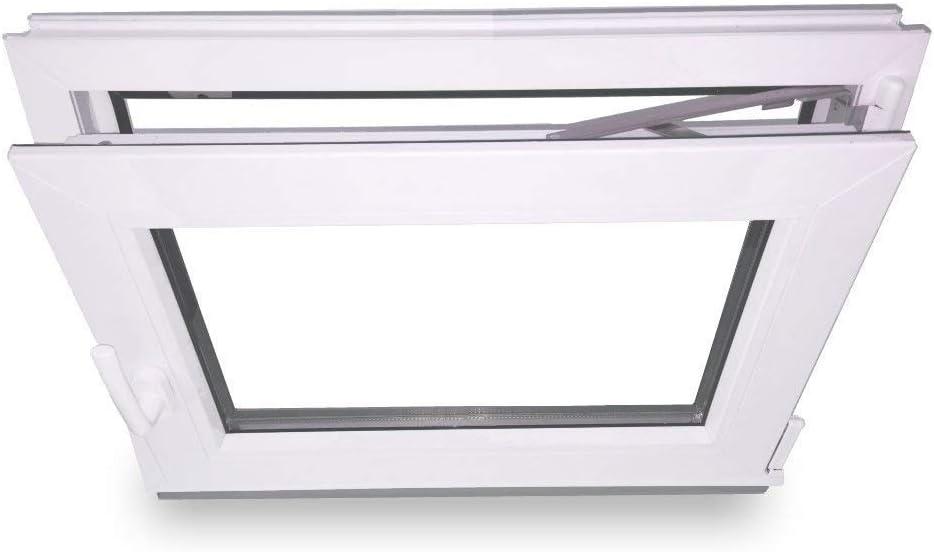 3-Fach 60 mm Zwischengr/ö/ße BxH: 700X750 mm DIN Rechts Kunststofffenster