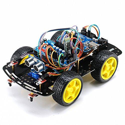 Turobot UNO Programmable Smart Robot Car Kit Set with Four-wheel Drives, UNO (Sensor Chassis)