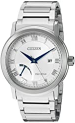 Citizen Men's 'Eco-Drive Dress' Quartz Stainless Steel Casual Watch, Color:Silver-Toned (Model: AW7020-51A)