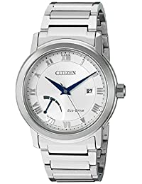 Citizen Men's 'Eco-Drive Dress' Quartz Stainless Steel Casual Watch, Color: Silver-Toned (Model: AW7020-51A)
