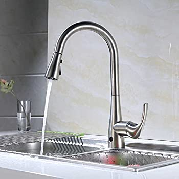 Flow Motion Activated Pull Down Kitchen Faucet Amazon Com