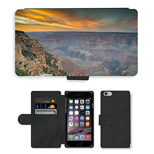 """PU Leather Cover Custodia per // M00421769 Grand Canyon Amérique Nationa Célèbre // Apple iPhone 6 4.7"""""""