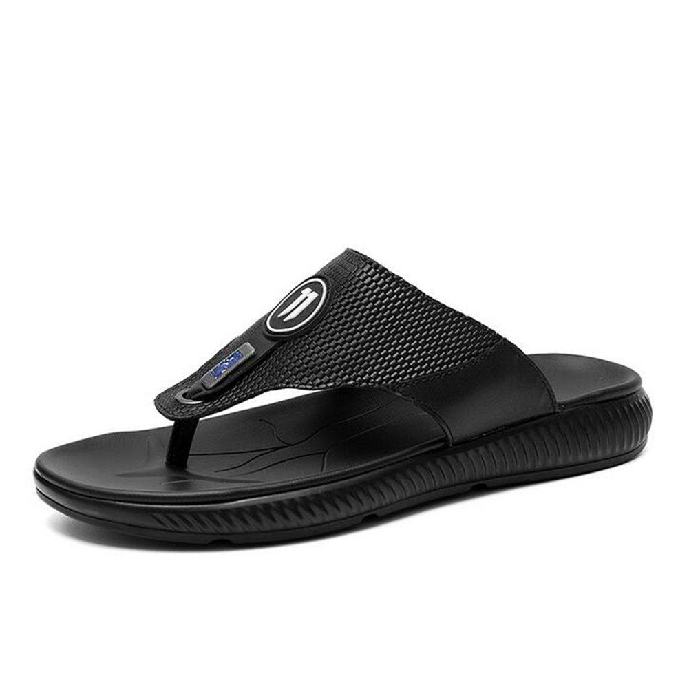 CAI Männer Hausschuhe 2018 Männer kühlen Drag Flip Flops Herrenmode Trend Strand Schuhe Sandalen große Größe Komfort Sandalen (Farbe   Schwarz, Größe   43)
