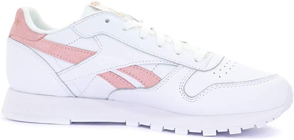 Reebok Classic Leather Exotic Chaussures Femme Blanc Rose