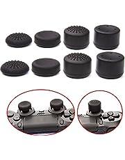 QUMOX 8Pcs Pulgar mango thumbstick Silicona pulgar cap para PS2, PS3, PS4, Xbox 360, controlador de Wii U