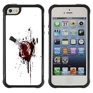 Suave TPU GEL Carcasa Funda Silicona Blando Estuche Caso de protección (para) Apple Iphone 5 / 5S / CECELL Phone case / / Bloody Toast /