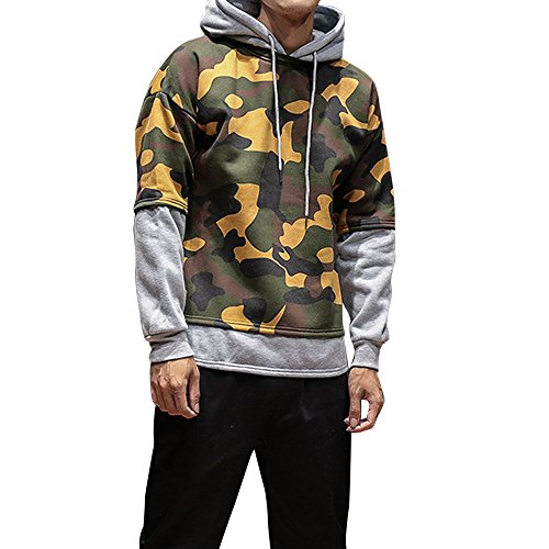 [Men's Hoodies, Realdo Camouflage Warm Coat Outwear] (Costume Medievale Homme)