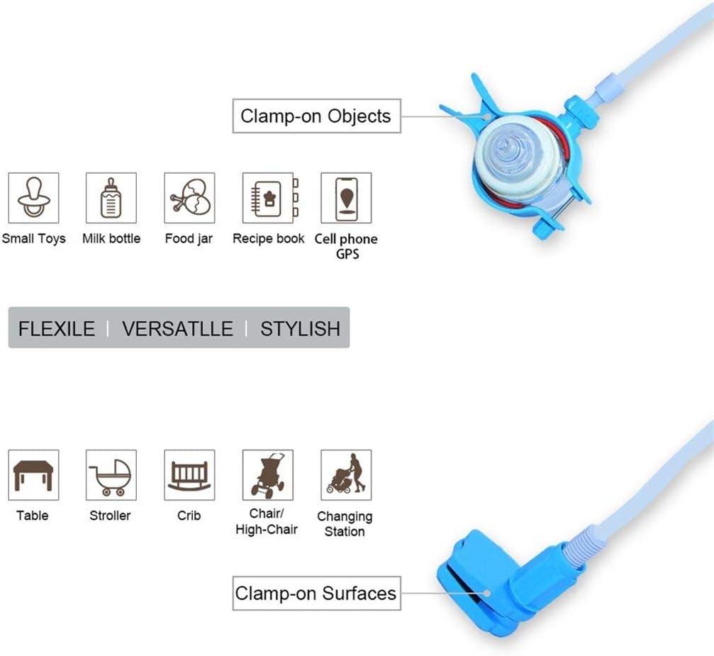 Masrin Babyflaschenhalter Tragbarer multifunktionaler Blau um 360 /° drehbarer R/ückprallschutz geeignet f/ür Kinderwagen Kinderbetten und Babyessst/ühle