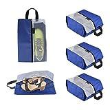 Lermende Travel Shoe Bags Waterproof Nylon Organizer Storage Tote Pouch 5pcs (Blue(Standard size))