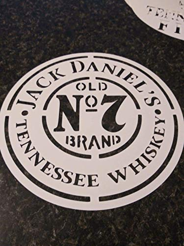 "Whiskey Airbrush Stencil Jack daniels for barrel lid painting 7.5"", 12"", 16"", 22"" you pick size reusable."