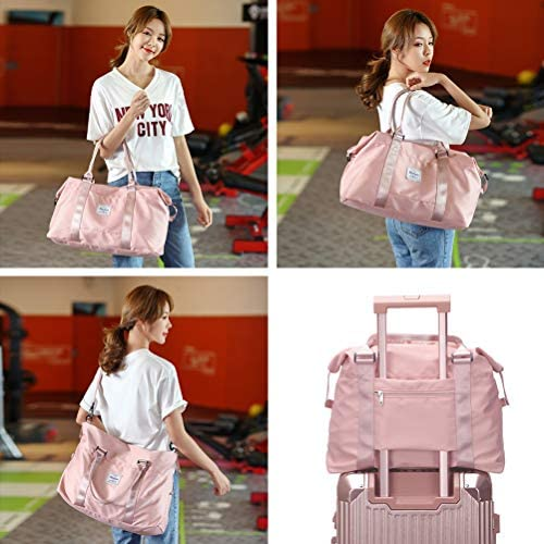 Womens trip luggage, weekender deliver on for ladies, sports activities Gym Bag, exercise duffel bag, in a single day shoulder Bag are compatible 15.6 inch Laptop