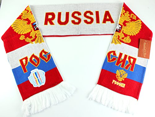 Mitchell & Ness World Cup Of Hockey Team Country Knitted Scarf (One Size, Russia)