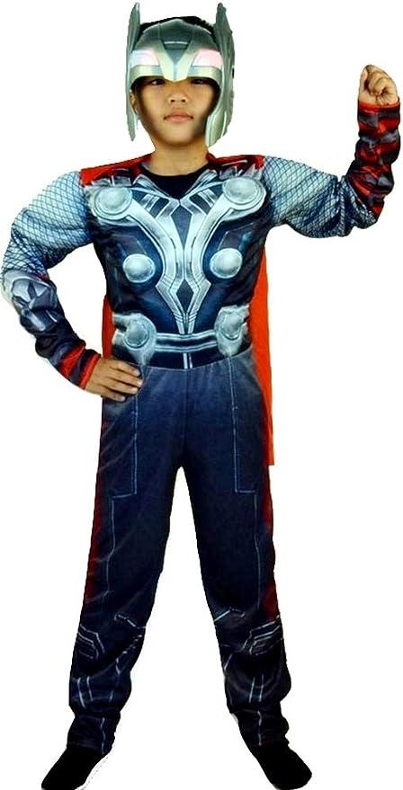 Vestido de Carnaval de Thor incluye mono entero máscara y capa ...