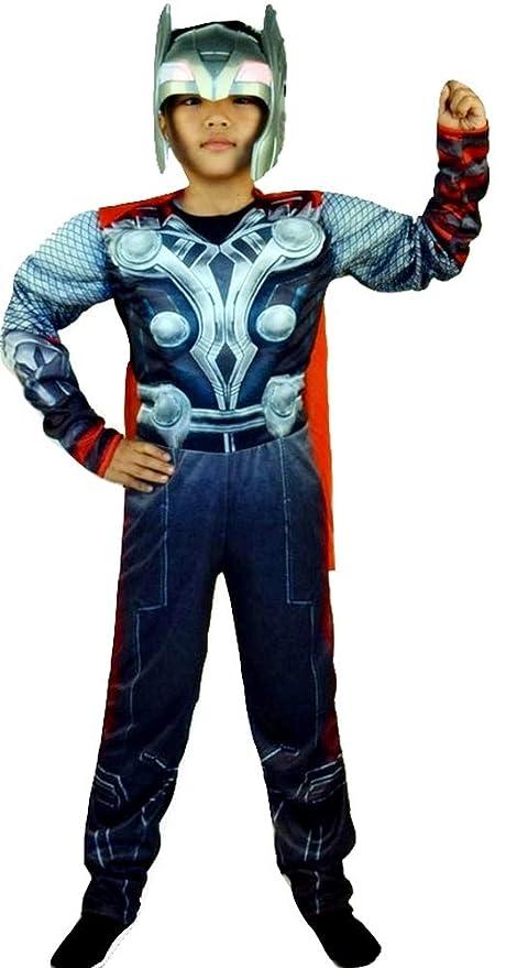 Traje de carnaval de Thor incluye mono entero máscara y capa idea ...
