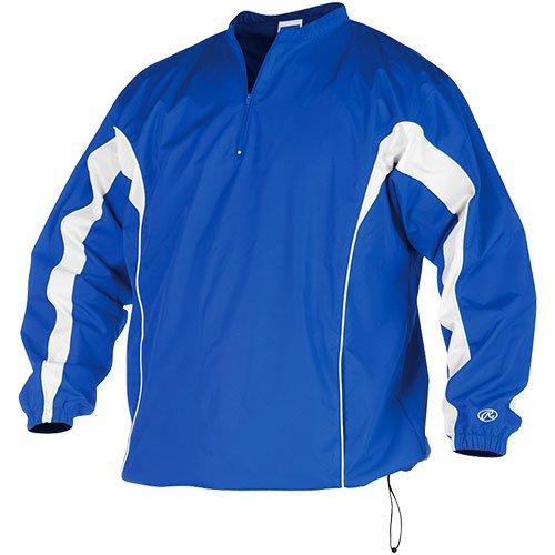 Rawlings Men's Tijls Long Sleeve Pullover Jacket(Royal, X-Small)