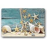 """Fantastic Doormat Sea Beach Starfish on Fishing Net Door Mat Rug Indoor/Outdoor/Front Door/Bathroom Mats£¬Bedroom Doormat 23.6""""(L) x 15.7""""(W)"""
