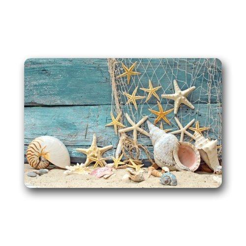 Fantastic Doormat Sea Beach Starfish on Fishing Net Door Mat Rug Indoor/Outdoor/Front Door/Bathroom Mats£¬Bedroom Doormat 23.6(L) x 15.7(W) by Starfish doormats Lai en zhou 2018511onehonZXQ100