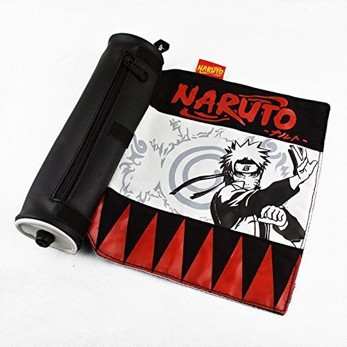 Japanese anime Naruto pencil bags pencil Cases for School kids (Red Naruto) (Naruto Bag Scroll)