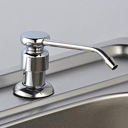 Jabón manual dispensador cocina grifo de acero inoxidable cocina fregadero grifo