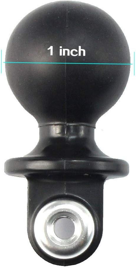 3//4//5 ZENUTA /Éclairage de plong/ée CNC en Aluminium Ball Butterfly Clip Clip Mount Mount Adaptateur de Base de Balle ABS pour Gopro Hero 3