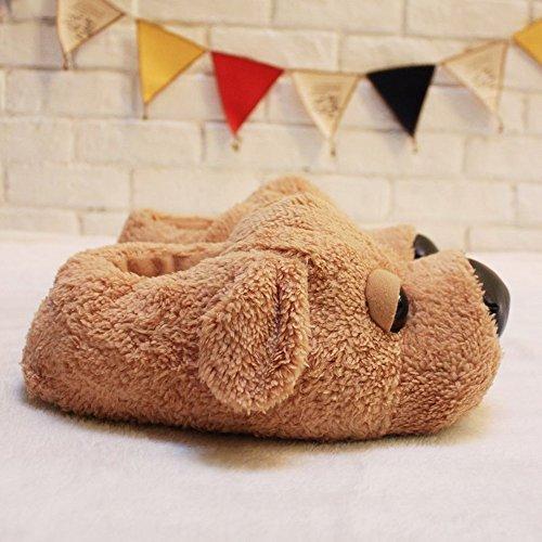 ... Womens Hund Skli Innendørs Varme Fleece Tøfler, Vakre Tegneserie Vinter  Myke Koselige Sokker Fuzzy Plysj ...