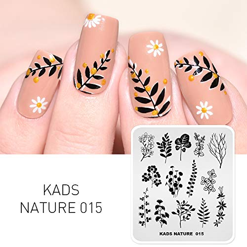 KADS Stamping Plates Leaf Nature Manicure Template Nail Art Image Plate Nail Design Tools(NA015)
