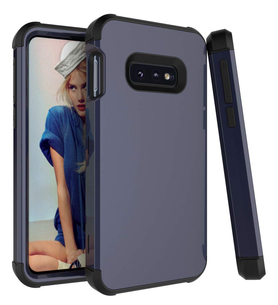 DAMONDY Case for Samsung S10e,Three Layer Heavy Duty Drop Protection Shock Absorption Non Slip Hybrid Armor Defender Protective Full Body Case Cover Fit for Samsung Galaxy S10e-navy-black by DAMONDY