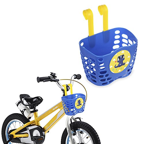 Childrens Small Storage - Mini-Factory Kid's Bike Basket, Cute Dinosaur Pattern Bicycle Handlebar Basket for Boy - Blue Dinosaur