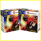 2 x 10 Packs Nashua Diskettes MF 2HD Computer PC Floppy Disks Formatted 1.44MB 3.5inch