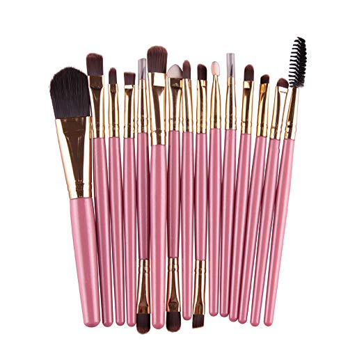 Set Synthetic Brush 13~15cm Kit approx Powder Foundation Brush Brush Blush Makeup Blending Gold AA Premium Silver Makeup BB Face 15PCS Pink wOqxaFIF