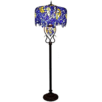 Amazon.com: Tiffany Style Floor Lamp, European Luxury Stained Glass ...