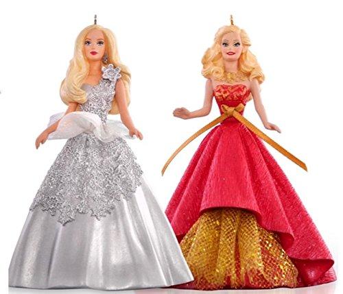 Hallmark QXI2787 Celebration Holiday Barbie Ornament Set