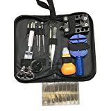 Otoolworld 265 Piece Professional Watch Repair Tool Kit with Bag Link Remover, Watch Pins, Watch Battery Replacement, Back Case Opener Remover, Spring Bar Tool Set, Tweezers